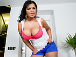 Bigtitsroundasses presents: Big natural Latina tits get fucked and cum on them