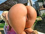 bigtitsroundasses: Big Tit Blondie Pounded Outdoors