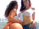 Pic of Naomi in bigtitsroundasses episode: Double Stack, (On a Big Bouncy Trampoline!!!)