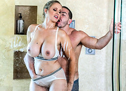 bigtitsroundasses: Fucking The Stepson In The Shower