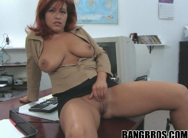 Big boobed milf fucked on kitchen counter