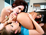 Pic of Mercedes Lynn in partyofthree episode: Girls lick pussy better than guys