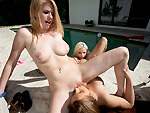 Pic of Mercedes Lynn in partyofthree episode: 3 Girl Lesbian Anal Party