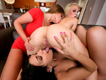 partyofthree: Threesome with some lesbians