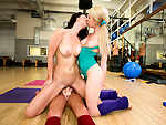 Pic of Mercedes Lynn in partyofthree episode: Yoga Threesome