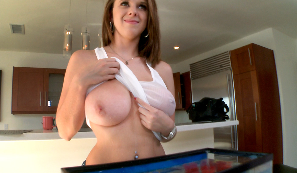 Brunette Natural Big Tits