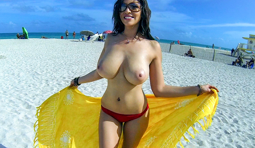 Latina with big boobs