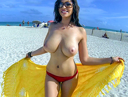 hot latina with big tits naked outdoors | big tits, round asses