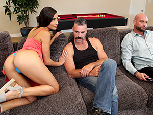 Emily Fucks Step Dad & Step Uncle image 1